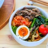 『テレワーク飯・牛肉しぐれキムチ丼弁当』の画像