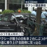 『東京タクシー事故運転手ワクチンが原因か5chやツイッターで拡散される』の画像