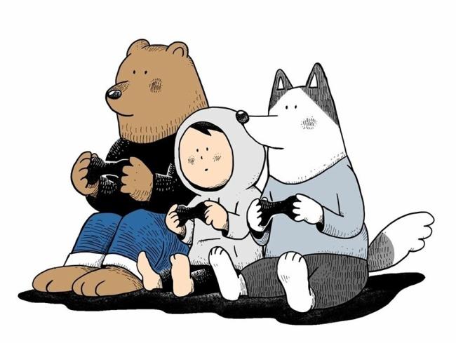 『ゲームの犬ごあいさつ』の画像