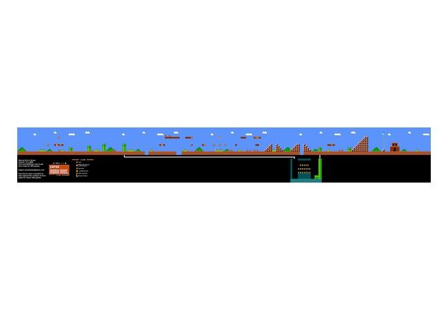 マリオの1-1のステージの全貌