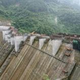 『ダム建設工事 越流部堰柱パネル』の画像