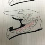 『SHOEI VFX-W:Shark Teeth in Tany Helm(塗装編)』の画像
