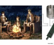 「進撃の巨人キャンプセット」と「進撃中学の缶バッチ」が登場!描き下ろしイラストも