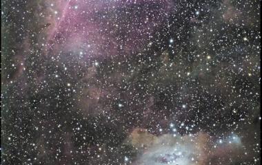 『馬頭星雲・オリオン大星雲(分子雲からトラぺジウムまで)』の画像