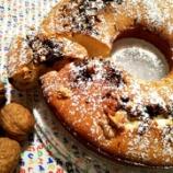 『イタリア定番の簡単リングケーキ!チョコとクルミ入り』の画像