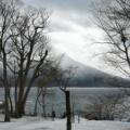 5人くらいしか観光客が居なかった支笏湖