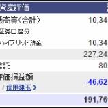 『週末(10月29日)の保有資産。1億9176万。』の画像