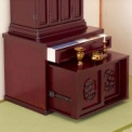 縁起の良い竹の彫刻が印象的な上置き仏壇用の下台。