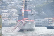 海上自衛隊、5千トン型護衛艦2番艦に「しらぬい」と命名…三菱重工長崎造船所で進水式(写真あり)