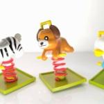公園の乗って遊ぶ動物たちのゆらゆら遊具がガチャフィギュアになった!「公園ゆらゆら遊具2」