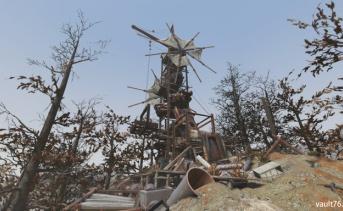 廃材の風車塔
