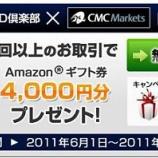 『タイアップキャンペーン中♪【CMC MARKETS JAPAN】が熱い!』の画像