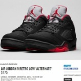 """『【店舗情報更新】直リンク 2/27発売 Air Jordan 5 Retro Low '90 """"Alternate""""』の画像"""