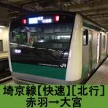 『埼京線【快速】車窓[北行]赤羽→大宮』の画像