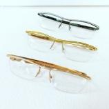 『Mr.Gentleman Eyewear、シンプルなストレートテンプルタイプ「HARRY(ラメ光沢モデル)」を入荷しております。』の画像