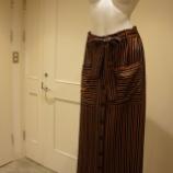 『ottod'Ame(オットダム)マルチストライプスカート』の画像