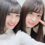 『AKB48グループ次期総監督に指名された向井地美音が長濱ねるとの2ショットをTwitterに公開!』の画像