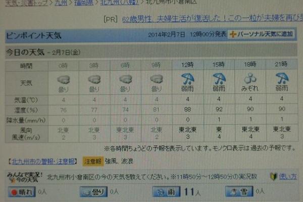 今日 の 天気 北九州