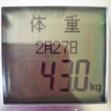 『祝☆20キロ減量達成!【63.2kg→43.0kg】喜びの日』の画像