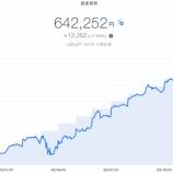 『【資産運用】2020年11月4週目!THEO+docomoの資産運用状況は642,252円でした。』の画像