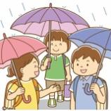 『【クリップアート】小学生のイラスト・傘をさして通学する(マスクなし・マスクあり)』の画像