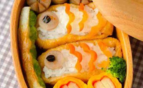 いなりで作った「鯉のぼり弁当」