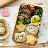 『猫の日のお弁当・にゃんこ&肉球のいももち』の画像