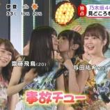 『【乃木坂46】飛鳥と与田のキスに直面してびっくりするいくちゃんの顔が可愛すぎるwwwwww』の画像