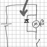 """『何故モータの回路に""""還流""""ダイオードを繋ぐのか -仮想実験-』の画像"""