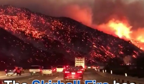 高速道路から撮影されたロサンゼルス近辺の山火事の映像が恐ろしいと話題に【海外の反応】