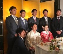 『石川梨華と野上亮磨の結婚披露宴が行われた模様』の画像