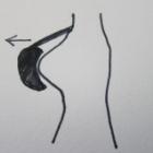 『ベリーダンス衣装 ブラ上部の浮きにはカップを引き寄せるのが重要』の画像
