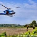万場調整池にヘリコプター飛来!そして 一緒に楽しく万場緑地を散策してみましょう。豊橋にエール!