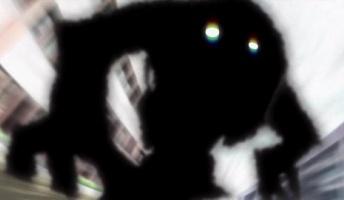 真っ黒い影見たことある人ちょっときて