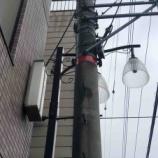 『7月7日水害避難訓練報告が戸田市ホームページで紹介されています。加えて、お近くの電信柱をチェックください。洪水時に想定される浸水深と目安の赤いテープが巻かれています。』の画像