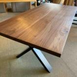 『厚さ42ミリのX脚ダイニングテーブル・リスタ1800』の画像