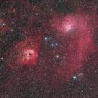 『ぎょしゃ座の勾玉星雲(IC405)&どくろ星雲(IC410)付近の星雲星団』の画像