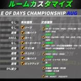『【試合ルール・ルームカスタマイズ】BATTLE OF DAYS CHAMPIONSHIP AUG』の画像