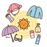『【クリップアート】紫外線対策・日焼けどめのイラスト(日焼けケア用品・子供と日焼け止め・紫外線アレルギー)』の画像