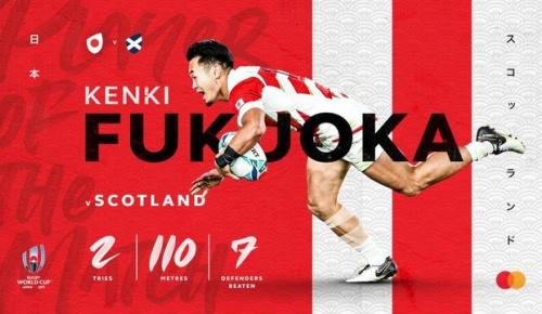 海外「福岡堅樹のようになりたい」スコットランド戦で活躍した福岡が海外から憧れの的に