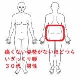 『≪前日になったぎっくり腰 30代男性≫~痛くない姿勢を自分で見つけられないほどの腰の痛み~』の画像