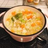 『野菜スープだねでハンバーグスープ』の画像