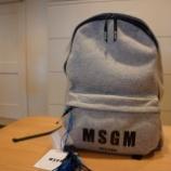 『MSGM(エムエスジーエム)ロゴ入りBACK PACK』の画像
