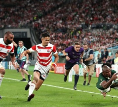ラグビー日本代表、強豪南アフリカに敗北 初のベスト4ならず