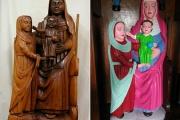 【海外】15世紀のマリア像、ど派手な色で素人が修復。「私にとってはすてきな色だし、近所のみんなも気に入ってくれている」スペイン