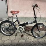 『リサイクル自転車 20インチ折り畳み自転車 6段変速』の画像