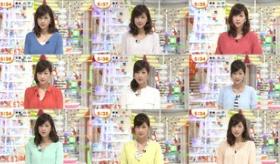 【テレビ】   日本の この女子アナが いつ見ても 全く顔が一緒だと 話題に。  比較画像。  海外の反応