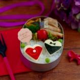 『Tie&Dress Bento・バレンタインのお弁当と大根餃子』の画像