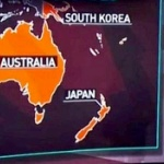 ロシアのTV番組ヤバい!地図でニュージーランドが日本!パプアニューギニアが韓国! [海外]