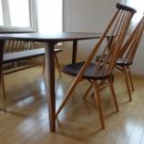 『三豊市にGREENのダイニングテーブルに柏木工・シビルチェアとベンチをセットして納品』の画像